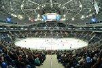 Минск-Арена перед матчем КХЛ между Динамо и Слованом