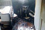 Последствия пожара в Минске