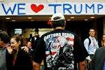 Американцы поддерживают кандидата в президенты США Дональда Трампа