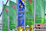 Флаги на заправке Белоруснефть