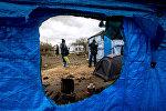 Лагерь мигрантов во французском портовом городе Кале