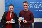 Белорусские велогонщики Наталья Цилинская и Василий Кириенко