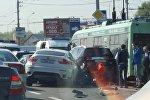 Авария на проспекте Жукова в Минске