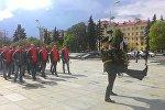 Сборная Беларуси по хоккею возложила цветы на площади Победы