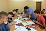 Евгений Ливянт со своими учениками
