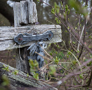Распятие на старом кладбище