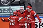 Игроки сборной Беларуси Олег Евенко, Джефф Плэтт, Шарль Лингле (слева право)
