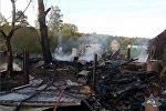 Ночной пожар в Полоцком районе