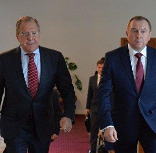 Министры иностранных дел Беларуси и России Владимир Макей и Сергей Лавров, архивное фото
