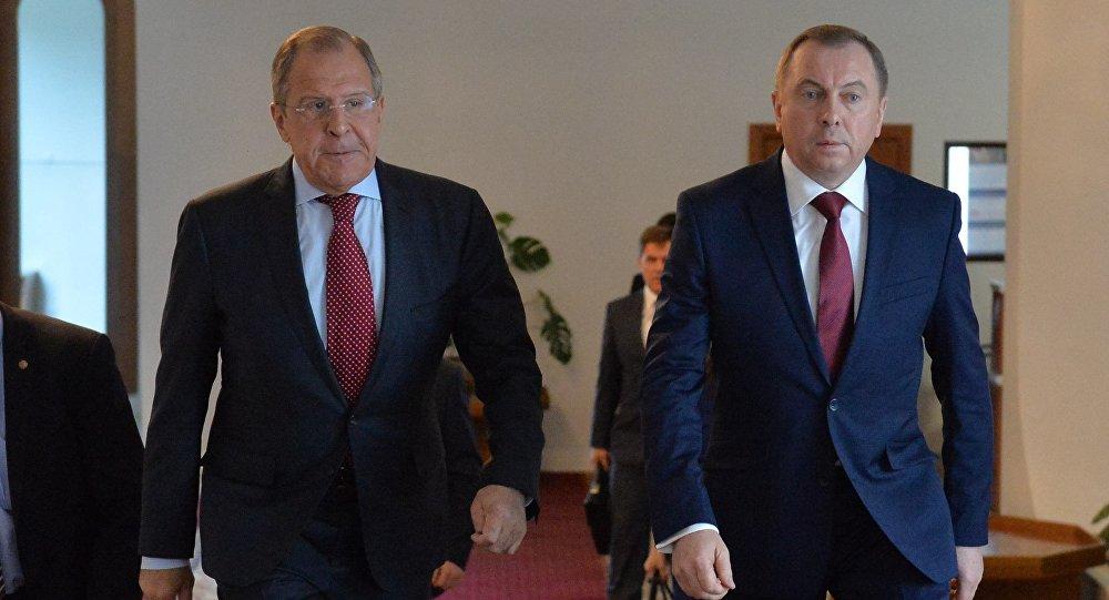 Министры иностранных дел Беларуси и России Владимир Макей и Сергей Лавров