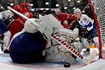 Взятие ворот сборной Франции на ЧМ по хоккею в России