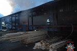 Пожар на предприятии в Бобруйске