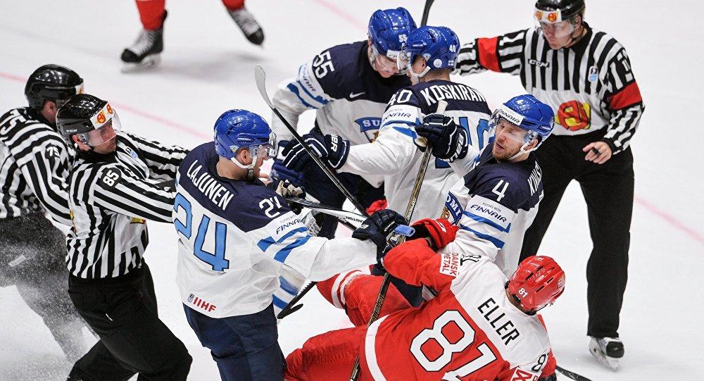 Хоккей. Чемпионат мира. Матч Финляндия- Дания