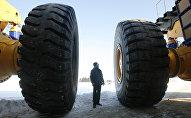 Презентация самосвалов ОАО Белаз в Минской области