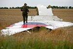 На месте падения Боинга в Донецкой области