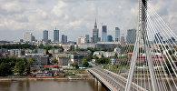 Від на Свентакшыскі мост праз раку Вісла ў Варшаве