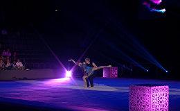 Красочным представлением гимнастов завершился этап Кубка мира в Минске