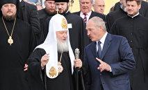 Патриарх Кирилл и президент Беларуси А.Лукашенко в Минске