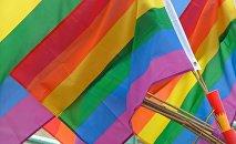 Разноцветные флаги