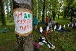 Активисты расположились в парке Котовка