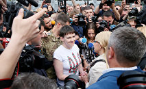 Надежда Савченко в Киеве