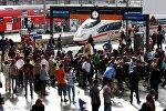 Мигранты на вокзале Мюнхена