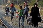 Нелегальные мигранты в Македонии