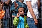 Мигранты на греко-македонской границе