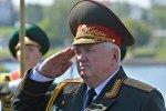 Глава ГПК Беларуси Леонид Мальцев на торжественном открытии памятного камня в честь пограничников