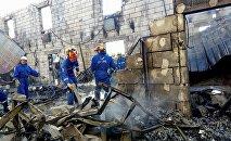 Пожар в доме престарелых в Киевской области.