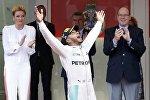 Победитель Гран-при Монако Льюис Хэмилтон