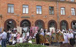 Процессия Божьего тела в Минске собрала тысячи католиков