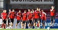 Футбольная сборная Беларусі на трэніроўцы