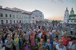 В историческом центре Минска продолжаются сезонные культурно-развлекательные мероприятия — музыкальные вечера у Ратуши.