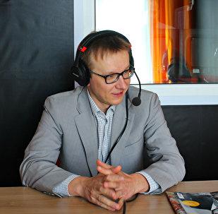 Вячеслав Ярошевич в студии радио Sputnik Беларусь