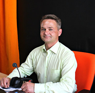 Дмитрий Рябов на радио Sputnik Беларусь