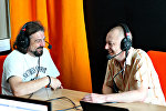 Александр Куллинкович и Александр Кривошеев на радио Sputnik Беларусь