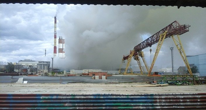 Взрыв на заводе в Гродно