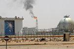 Пламя вблизи нефтяного месторождения в 160 км от Эр - Рияд, Саудовская Аравия