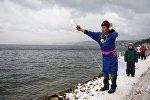 Обряд шаманов на озере Байкал