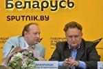 Руководитель Sputnik Беларусь Андрей Качура и главный дирижер Президентского оркестра Беларуси Виктор Бабарикин