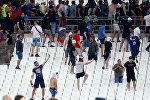 Российские фанаты после матча со сборной Англии на чемпионате Европы во Франции