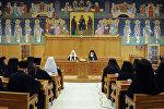 Патриарх Московский и всея Руси Кирилл и архиепископ Афинский и всея Эллады Иероним