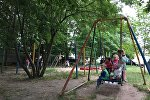 Детская площадка в минском дворе