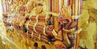 Фрагмент інтэр'ера Бурштынавага пакоя Екацярынінскага палаца