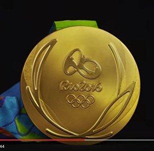 Кадр из видеопрезентации медалей Олимпийиских игр-2016 в Рио