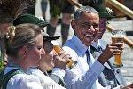 Президент США Барак Обама во время посещения Германии