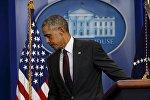 Выступление президента США Барака Обамы в Белом доме