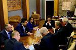 Глава МИД Беларуси Владимир Макей провел переговоры с председателем Одесской областной государственной администрации Михаилом Саакашвили