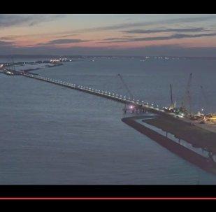 Как проходит строительство Крымского моста